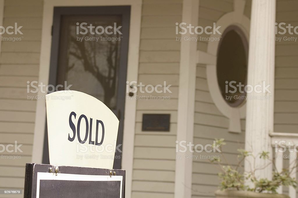 Sold home royalty-free stock photo