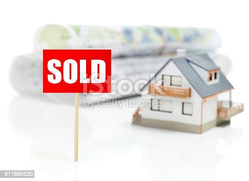 istock Sold house concept 611865530