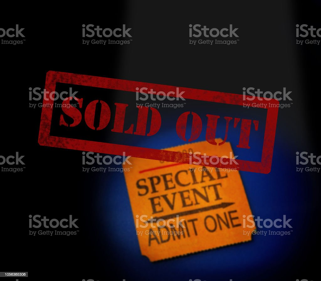 Sold Out concert stock photo