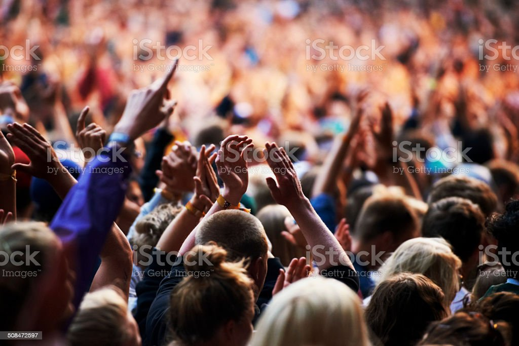 Sold out concert! stock photo