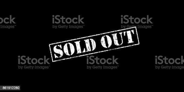 Sold out stencil rubber stamp on a black background with copy space picture id861912280?b=1&k=6&m=861912280&s=612x612&h=yuomhj p3ha  qhw1prerxalqkz5t8frwvadkldyi6y=