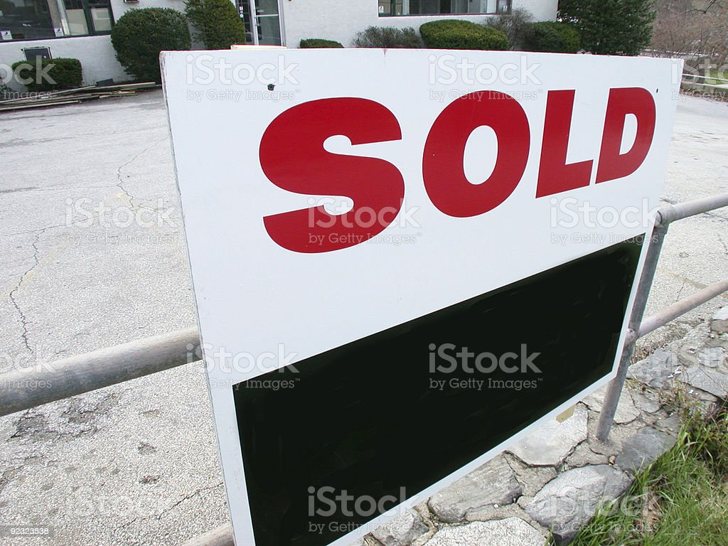 sold! royalty-free stock photo