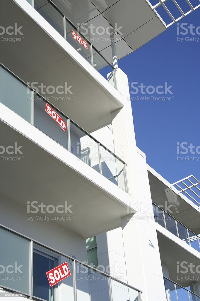 Sold - Property royalty-free stock photo