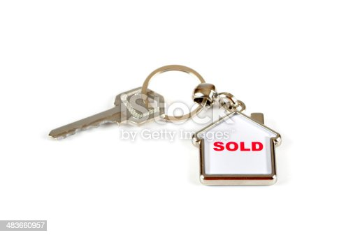 Front door key with a