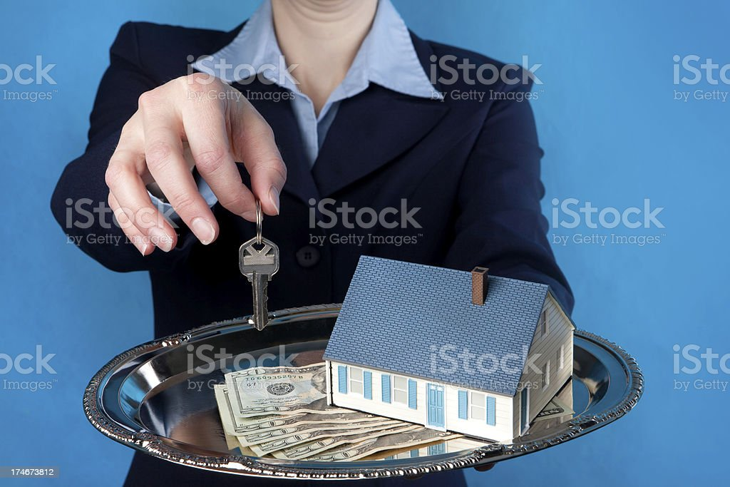 Sold Real Estate Platter royalty-free stock photo
