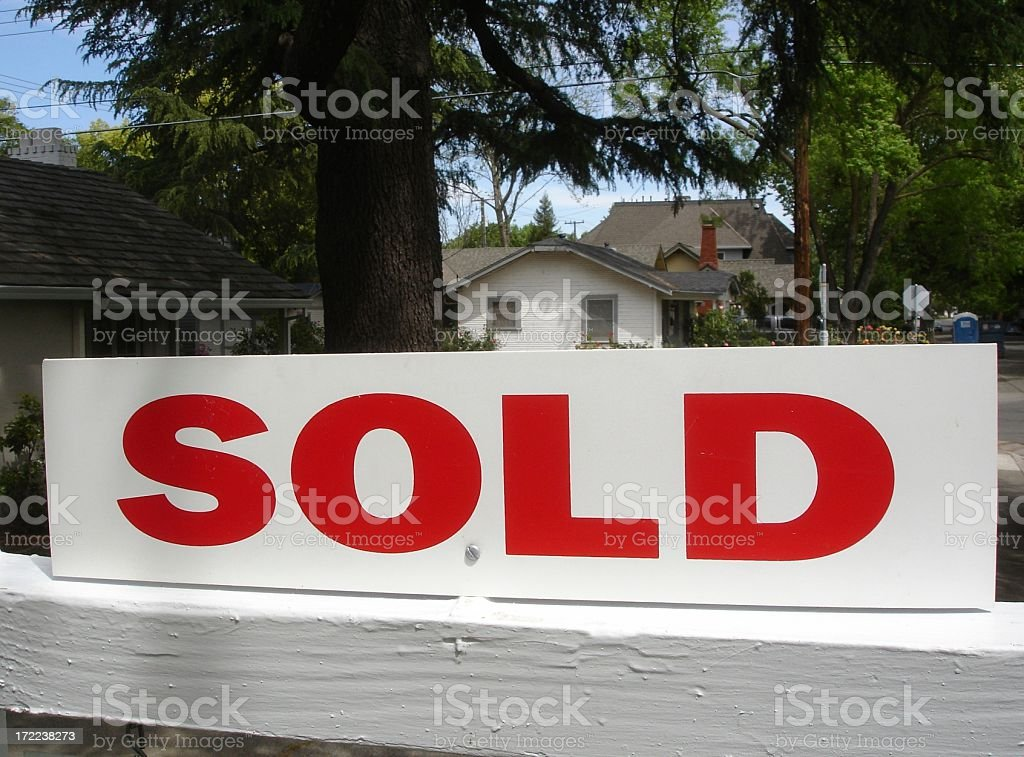 Sold real estate sign royalty-free stock photo