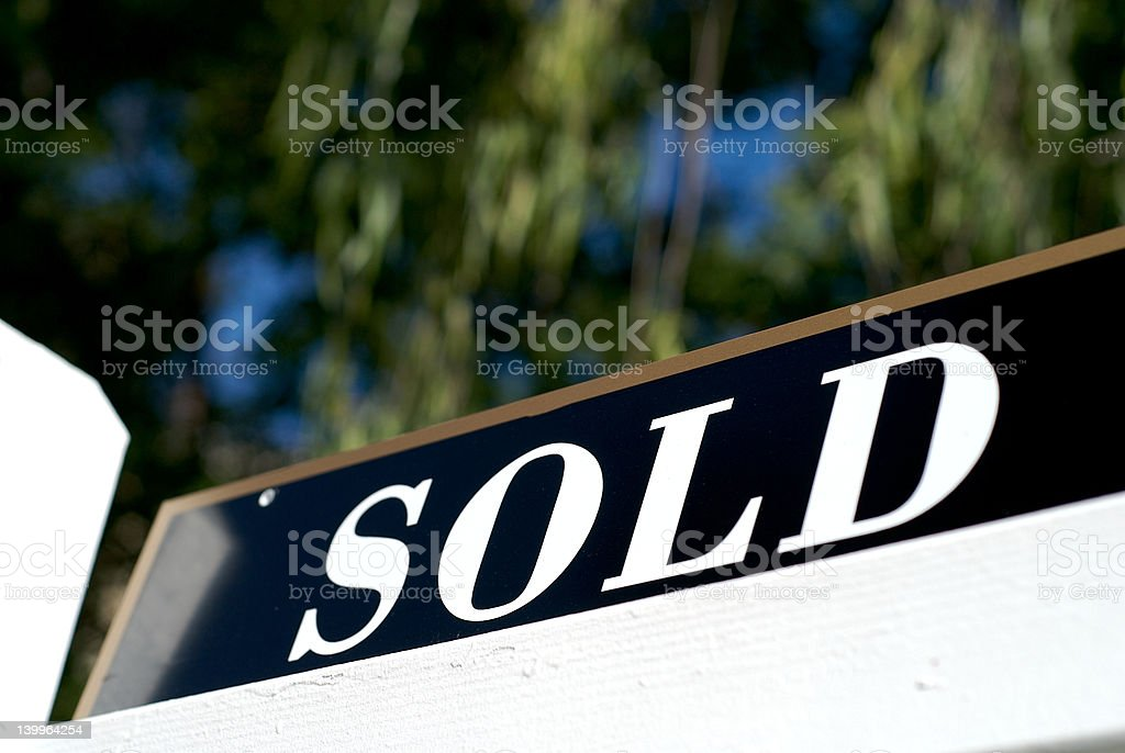sold sign stock photo
