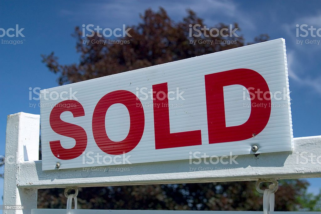 Sold Sign royalty-free stock photo