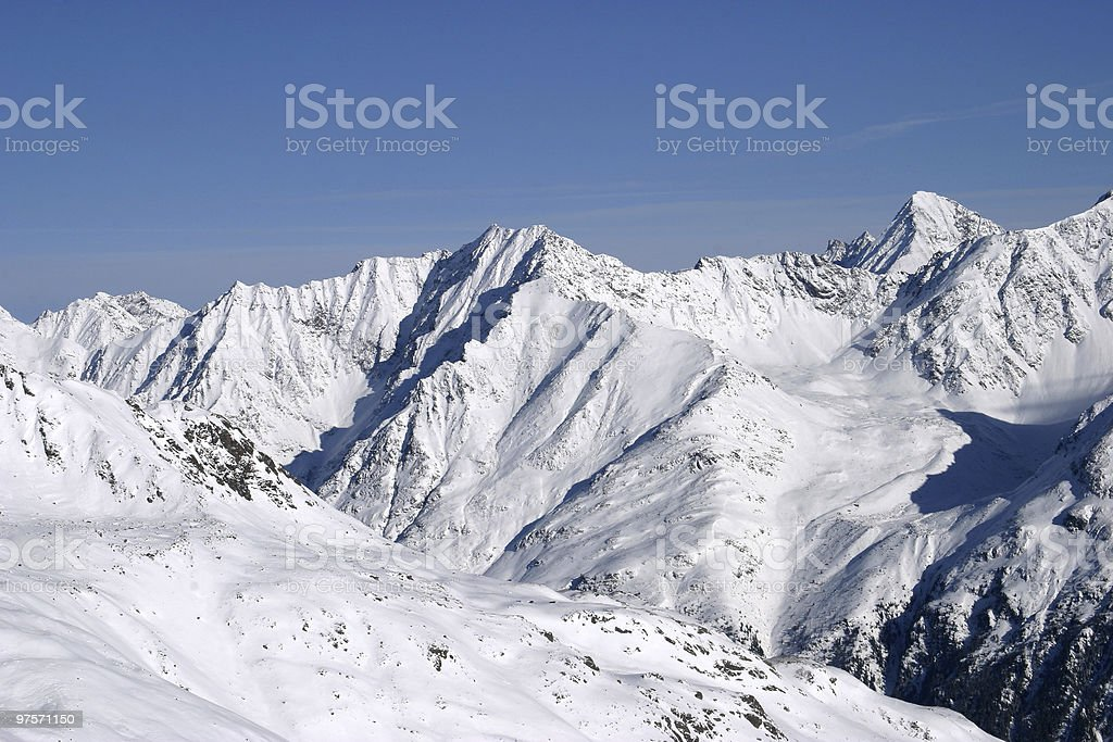 Solden: the mountain view royalty-free stock photo