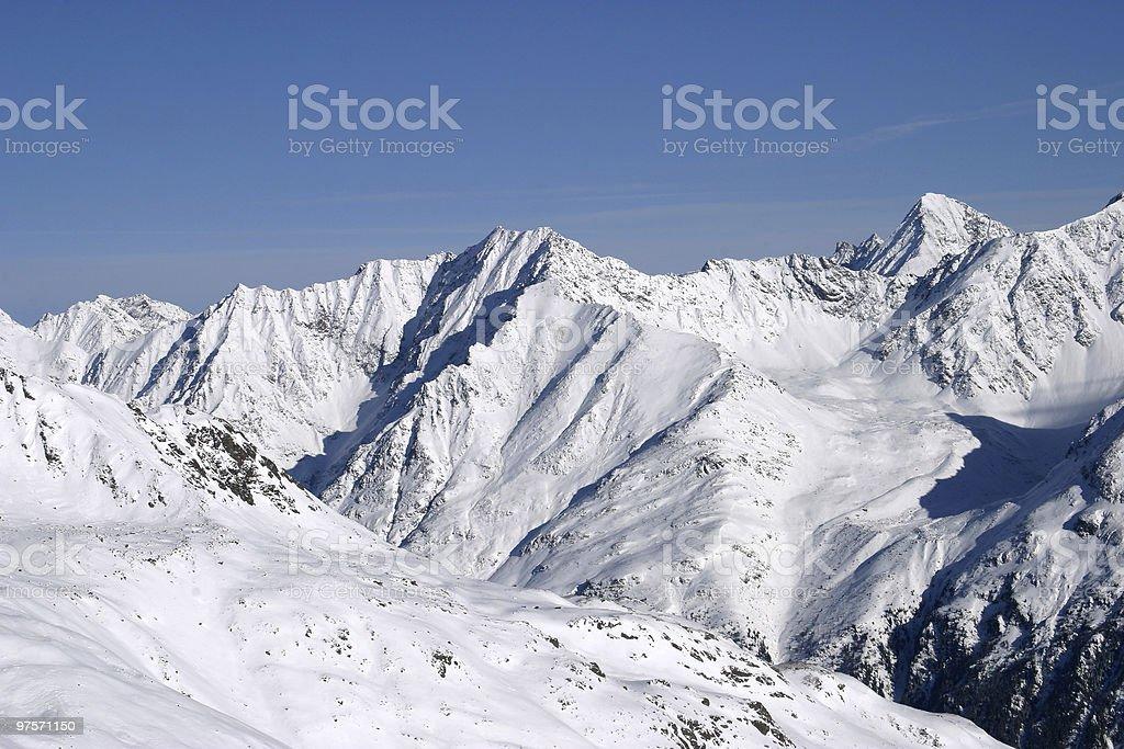 Solden: La vue sur la montagne photo libre de droits