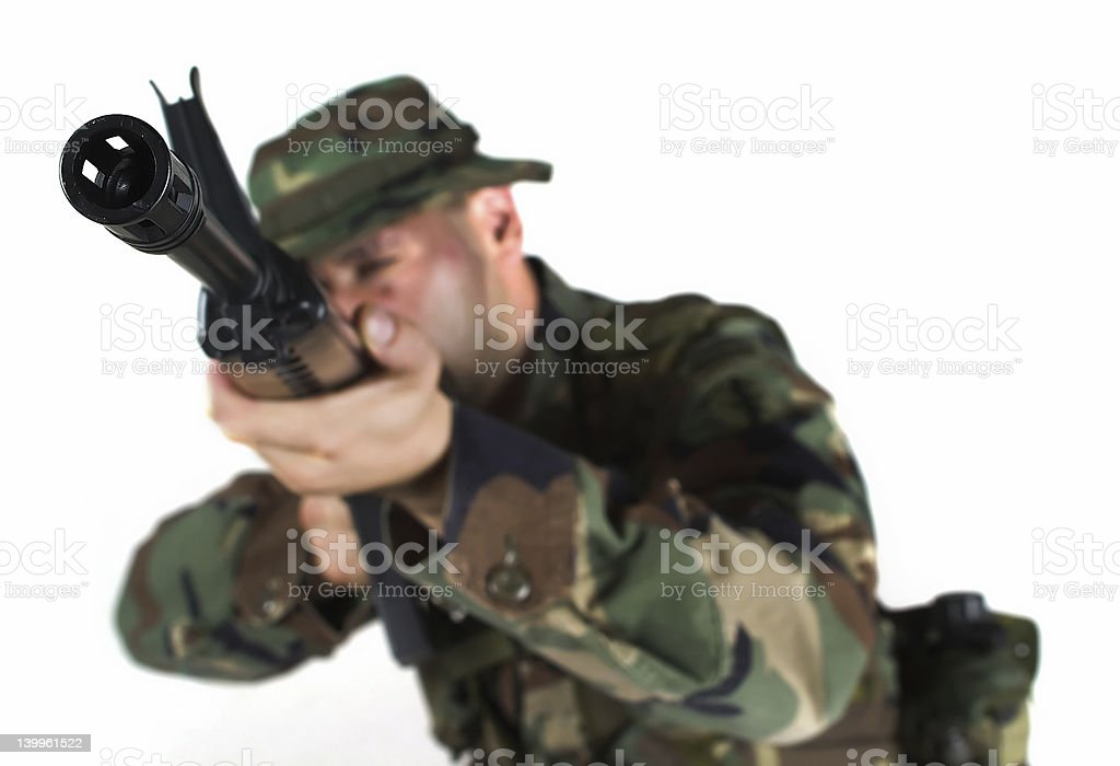 Solder aiming royalty-free stock photo
