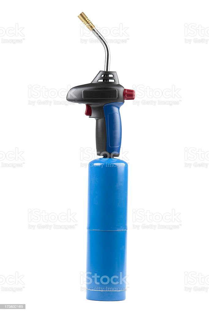 Soldering torch isolated on white stock photo