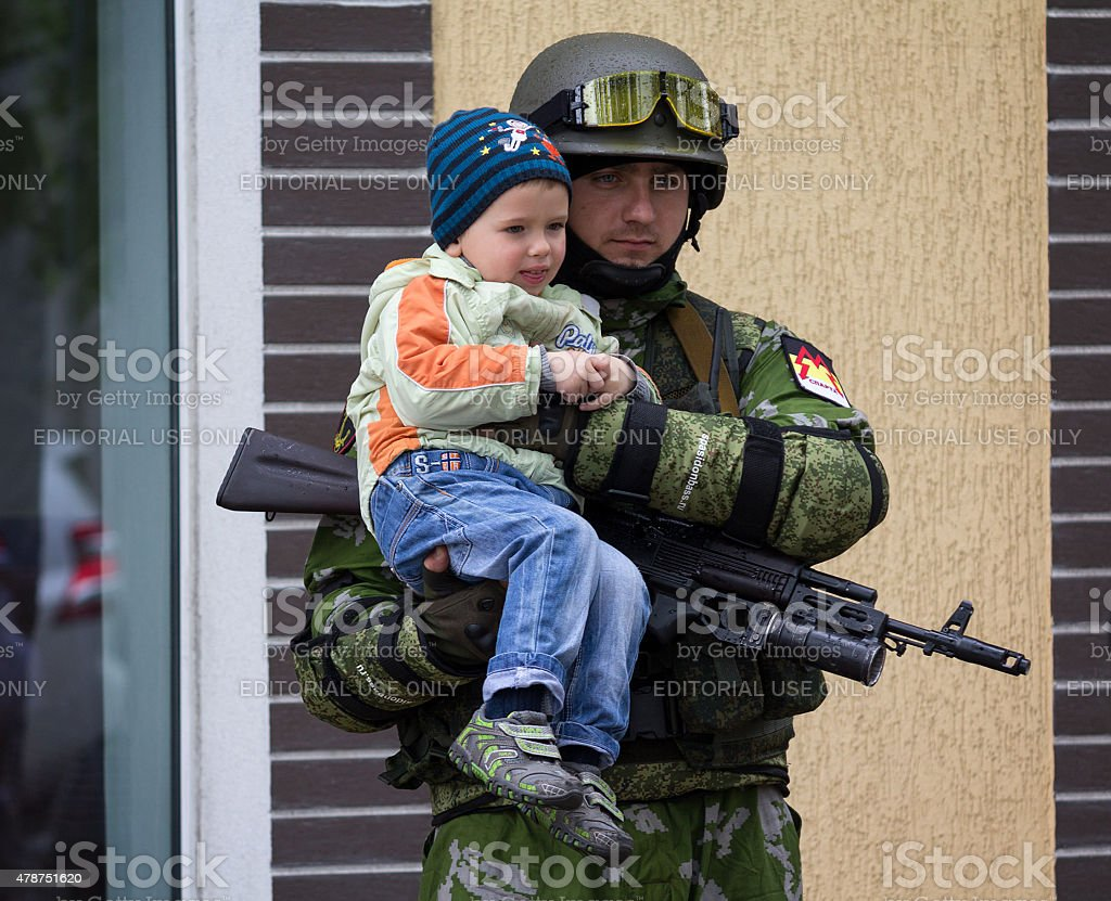 Soldier army Donetsk People's Republic stock photo
