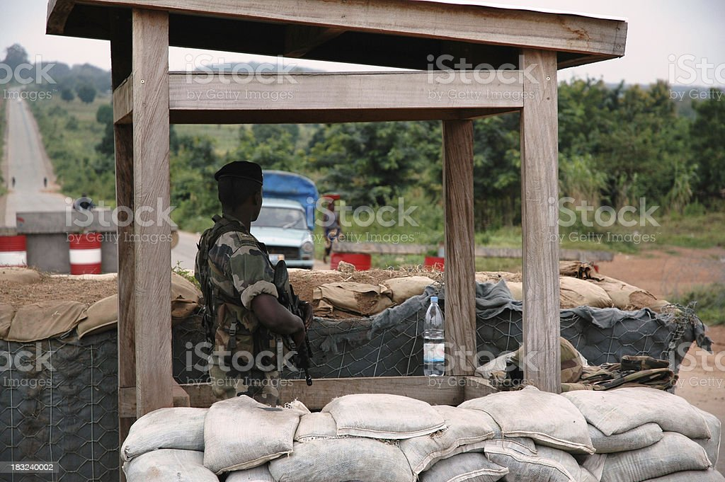 Soldier At Border stock photo