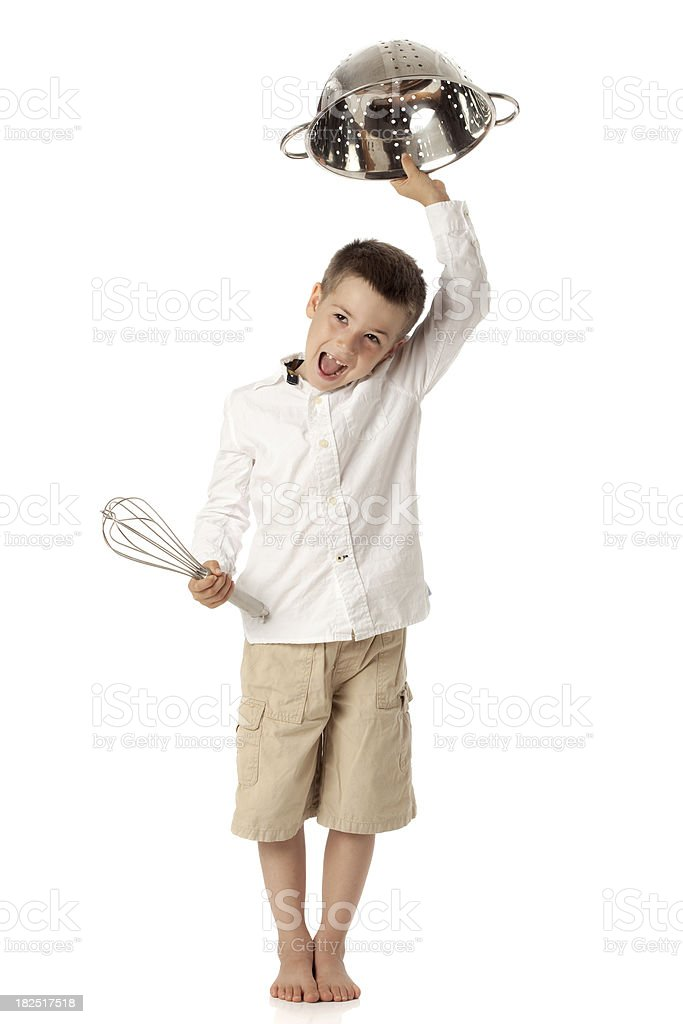 Soldier Boy Chef. royalty-free stock photo