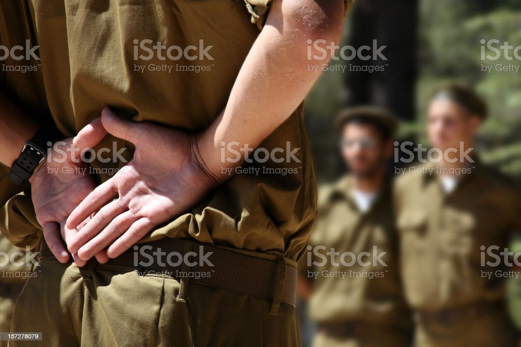 Soldier close-up stock photo