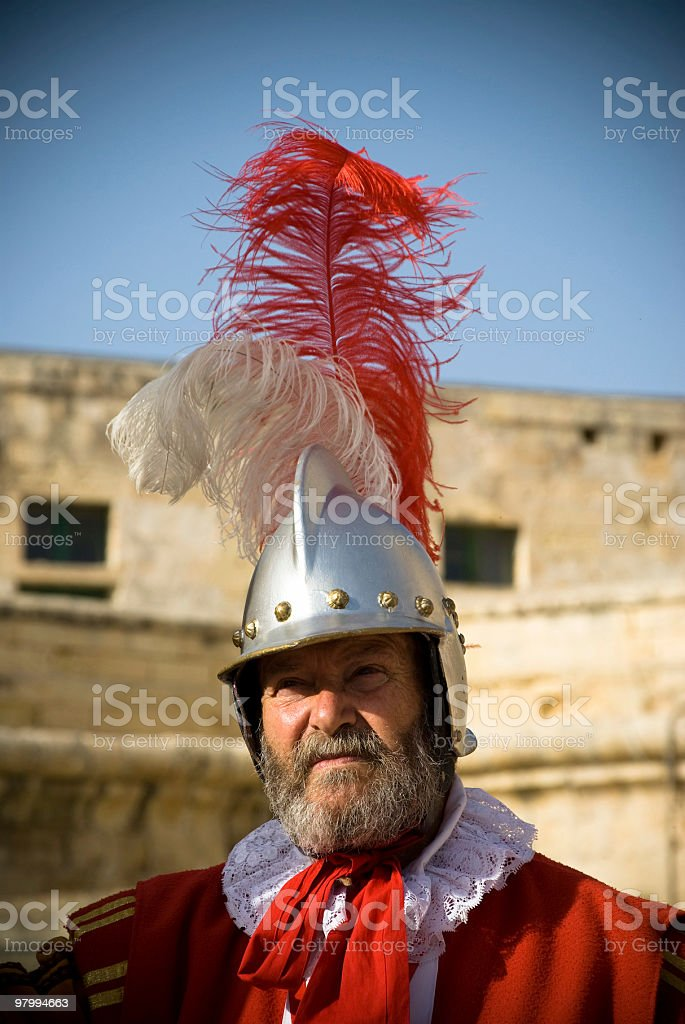 Soldier Defending the Fort Entrance royalty-free stock photo