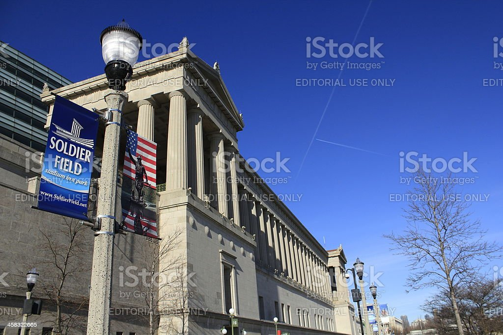 Soldier Field in Chicago, Illinois royalty-free stock photo