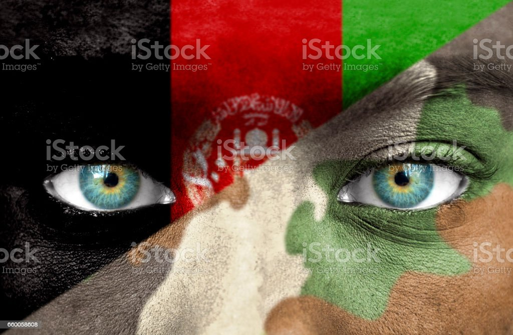 Soldier from Afghanistan stock photo