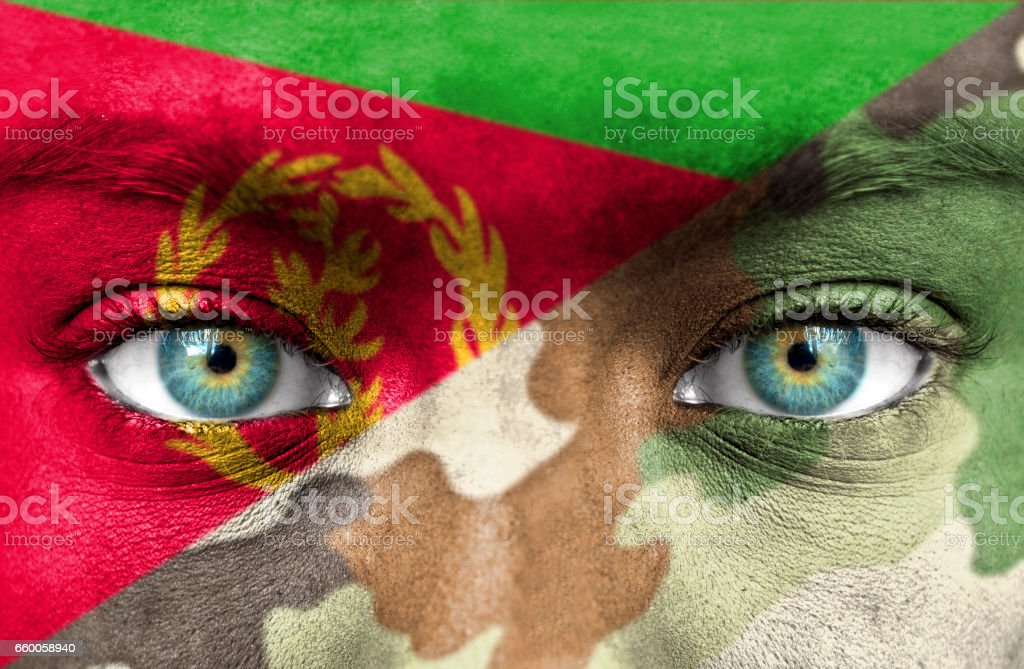 Soldier from Eritrea stock photo