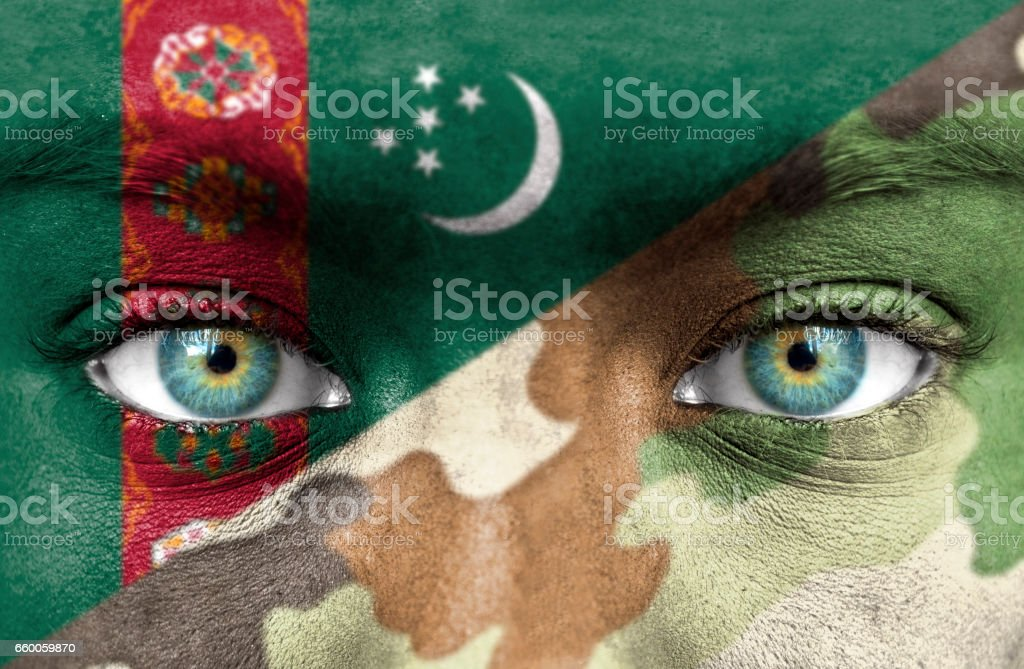 Soldier from Turkmenistan stock photo