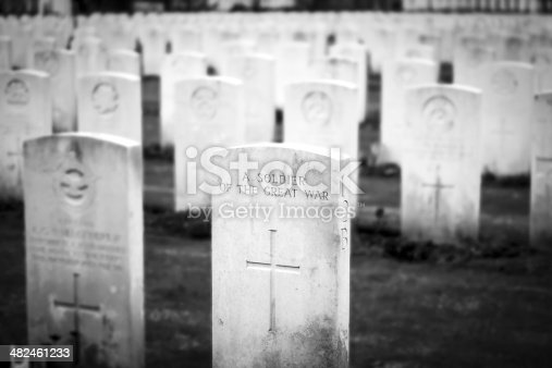 A soldier great war cemetery flanders fields Belgium