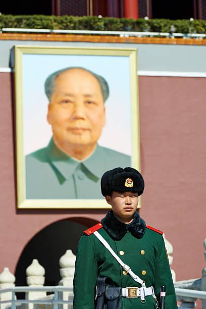 soldier in beijing - chinese military bildbanksfoton och bilder