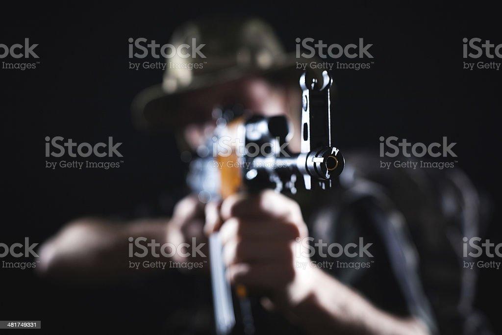 Soldier in combat stock photo