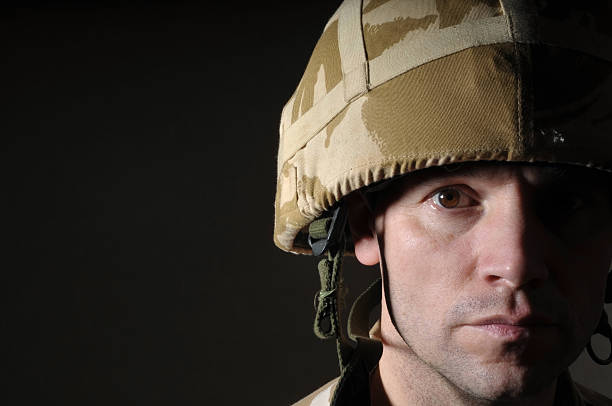 soldier in shadow - uk military stock photos and pictures