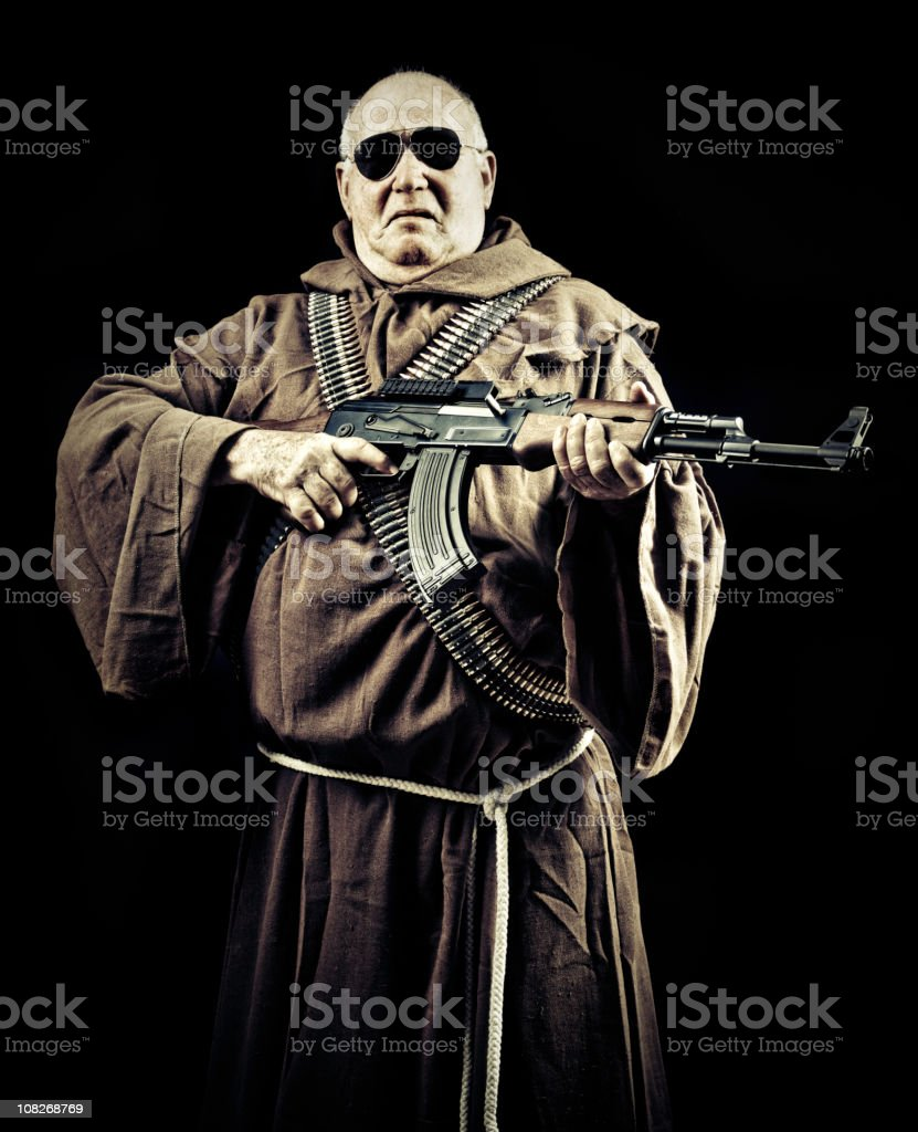 soldier of faith royalty-free stock photo