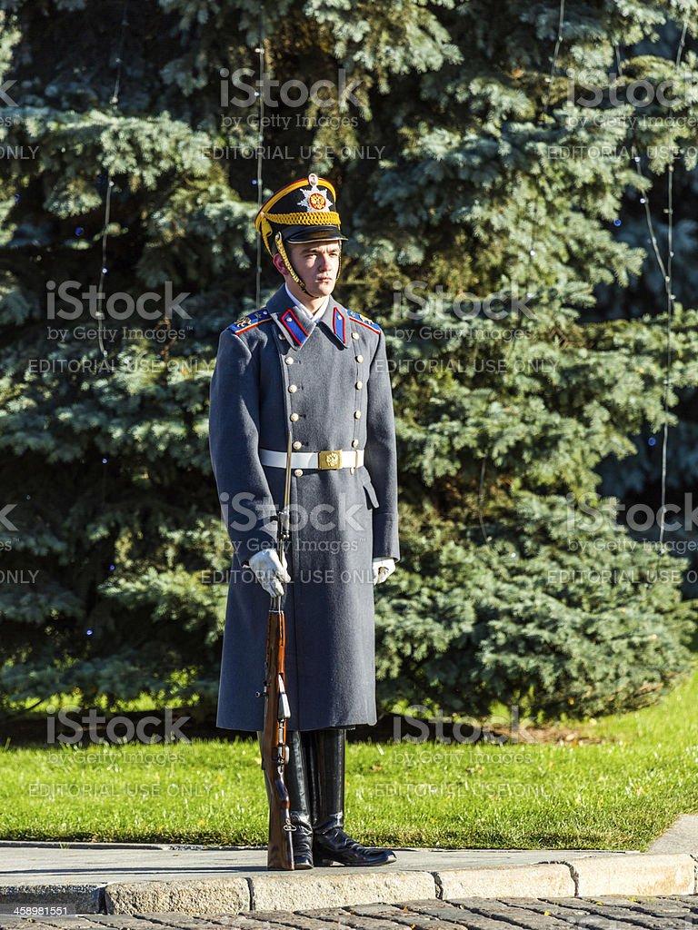 Soldier of Kremlin regiment royalty-free stock photo