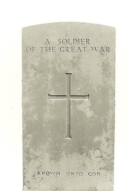 soldier of the great war in flanders fields stock photo