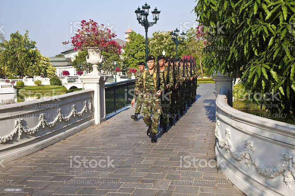 Soldier of the kings Guards in  Summer Palace royalty-free stock photo