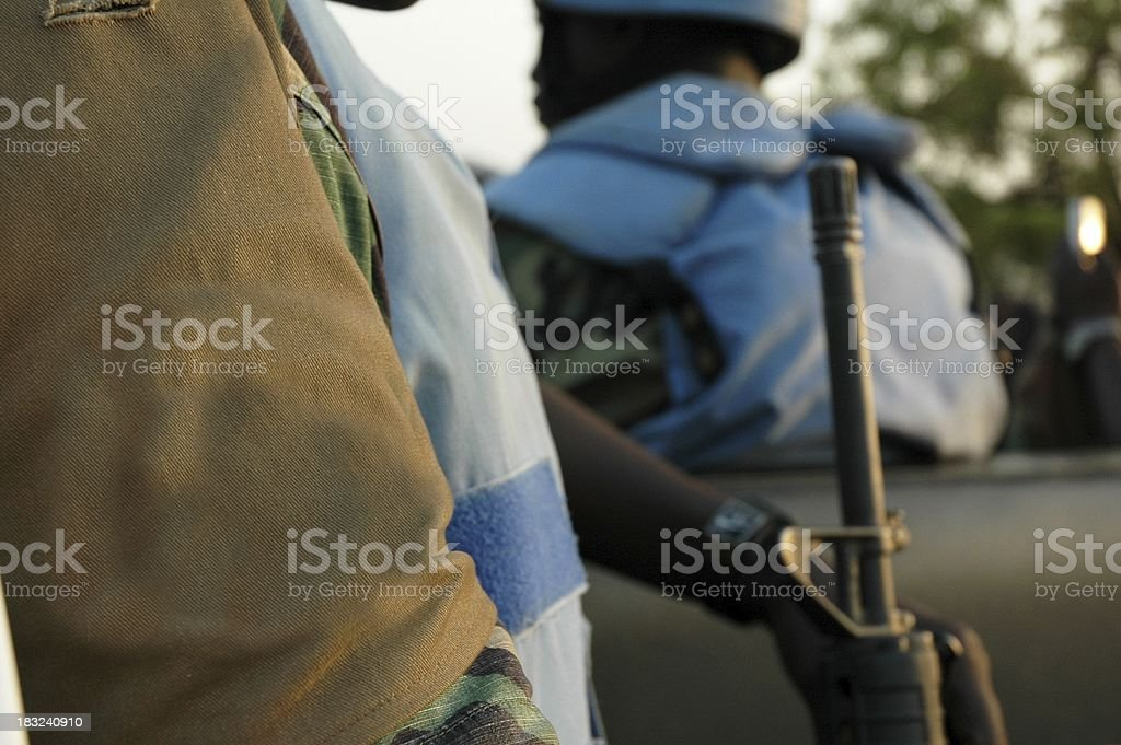 Soldier of the United Nations royalty-free stock photo