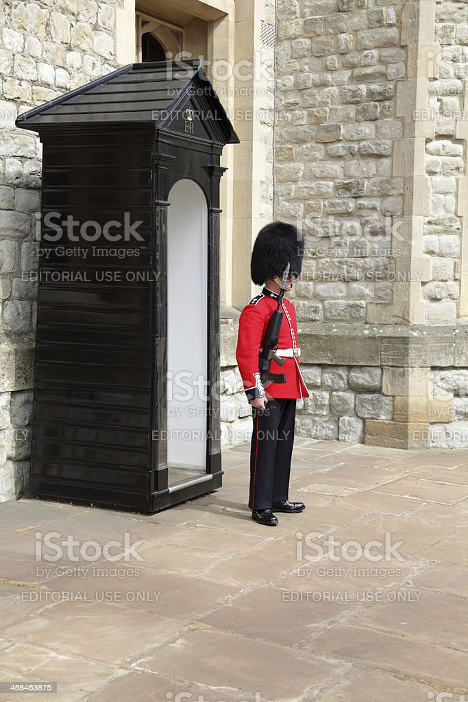 soldier on sentry duty stock photo