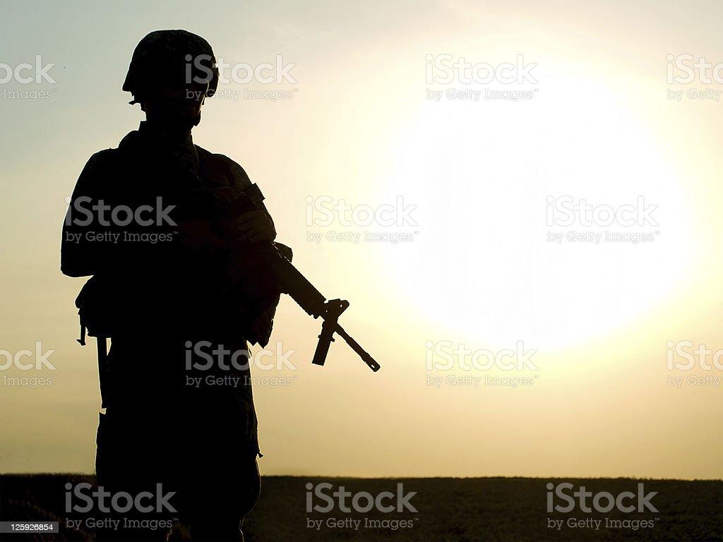 Nosotros soldado - foto de stock