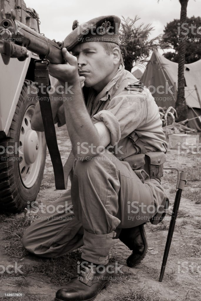 WW2 Soldier. royalty-free stock photo