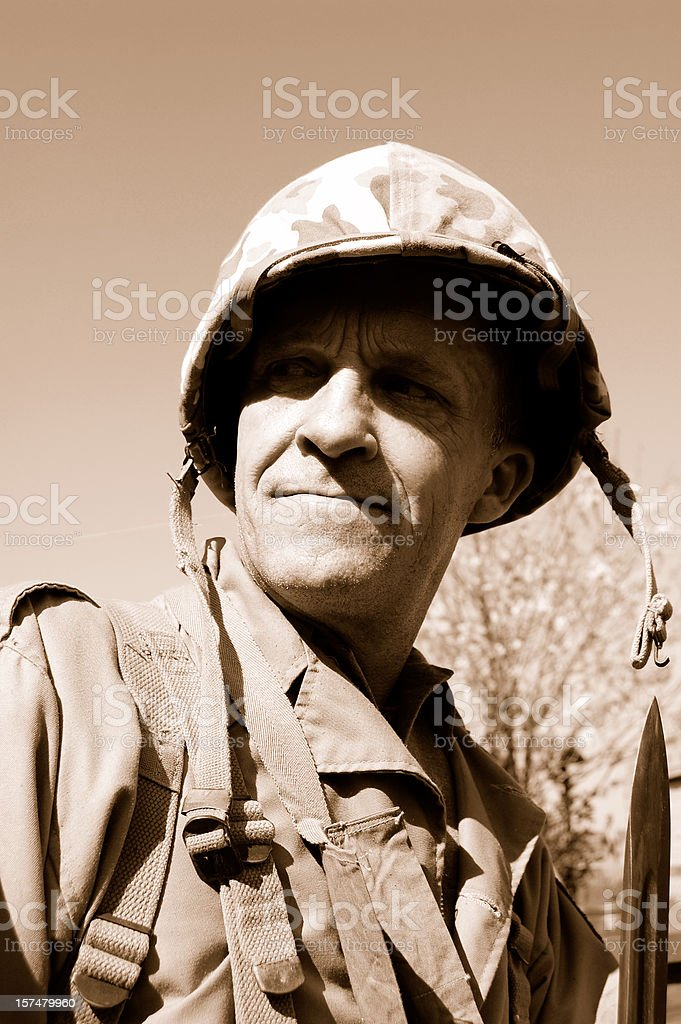 Soldier. royalty-free stock photo