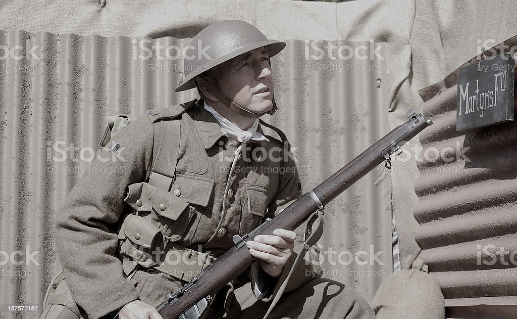 WW1 Soldier. royalty-free stock photo