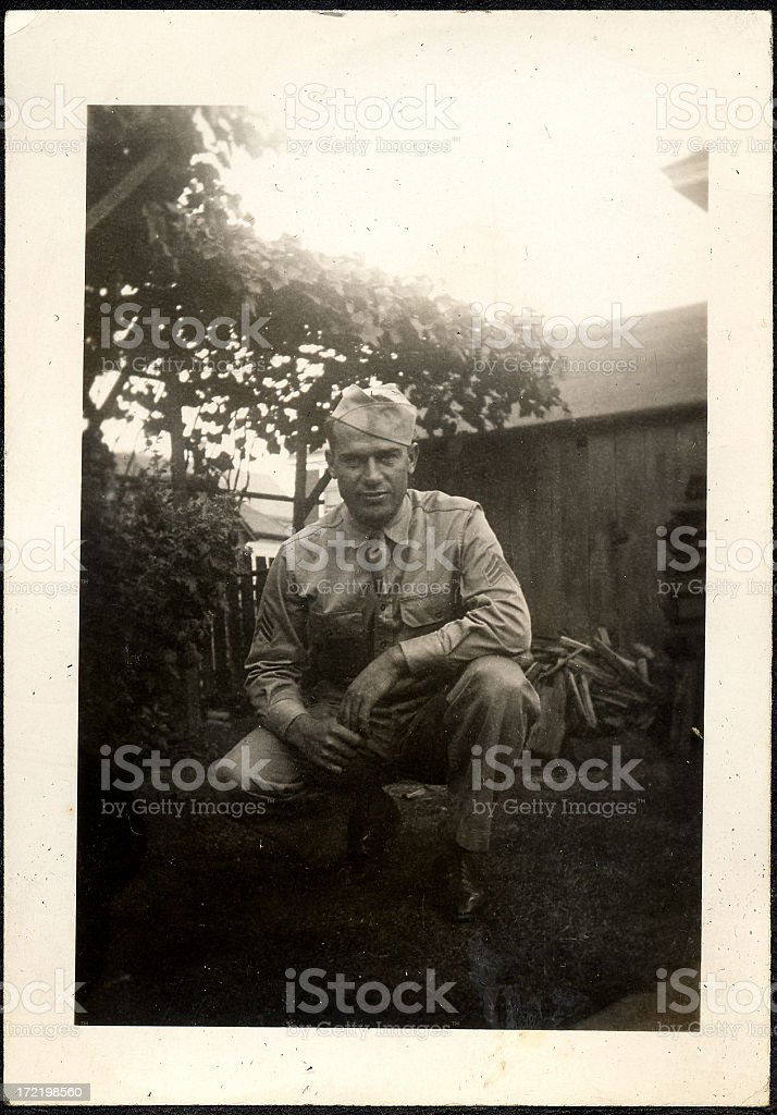 WWI soldier royalty-free stock photo