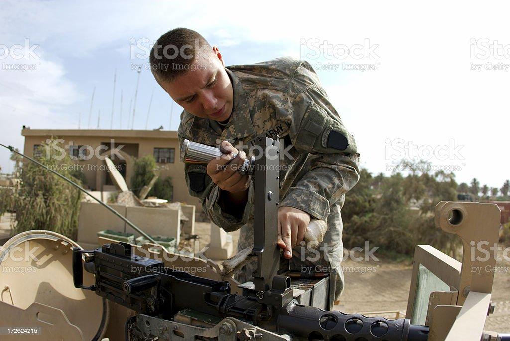 APC Soldier stock photo