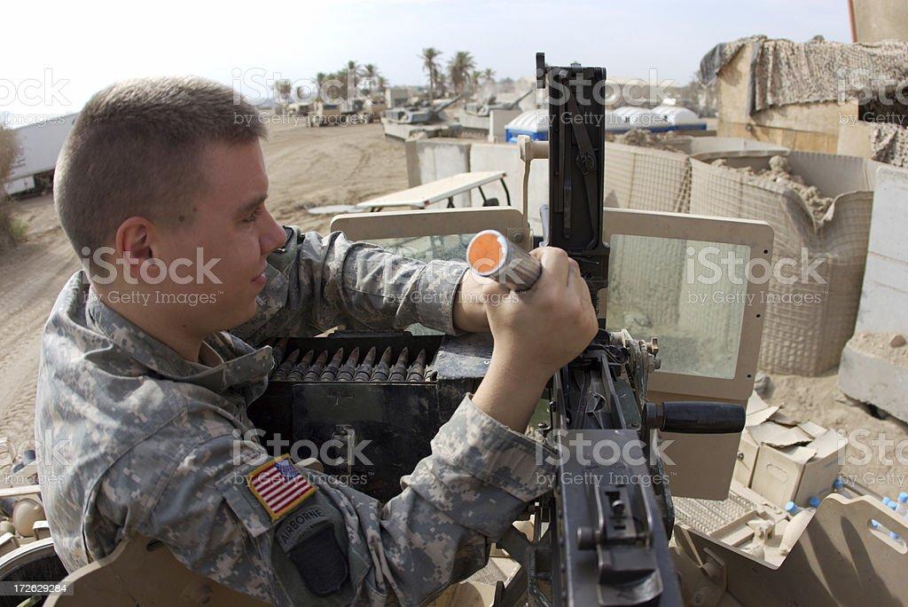 APC Soldier royalty-free stock photo