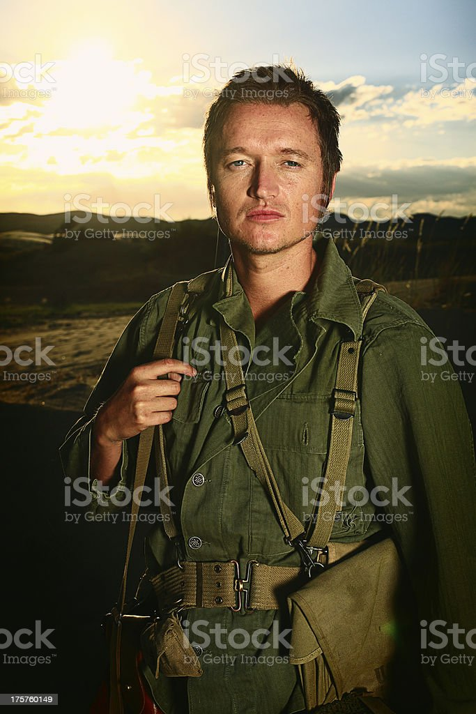 WW2 Soldier royalty-free stock photo
