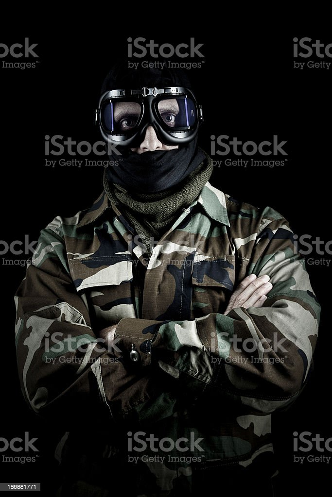 US soldier royalty-free stock photo