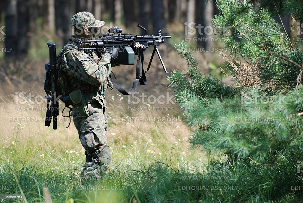 ASG Soldier royalty-free stock photo
