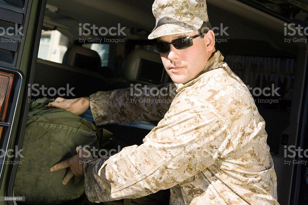 Soldier stock photo