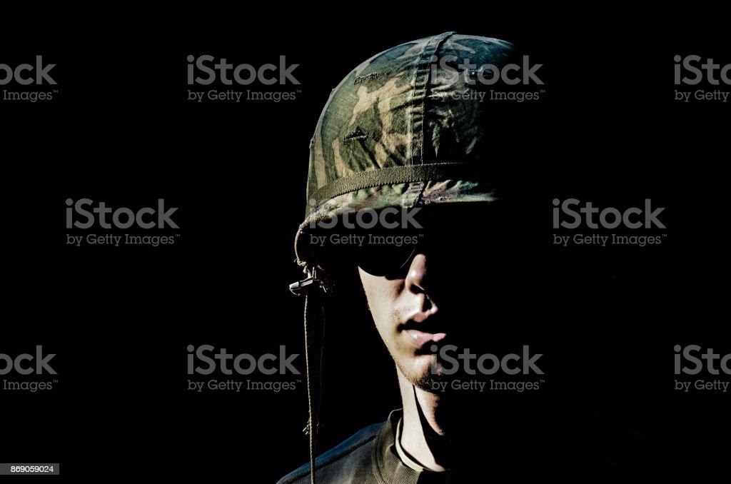 Soldier portrait stock photo