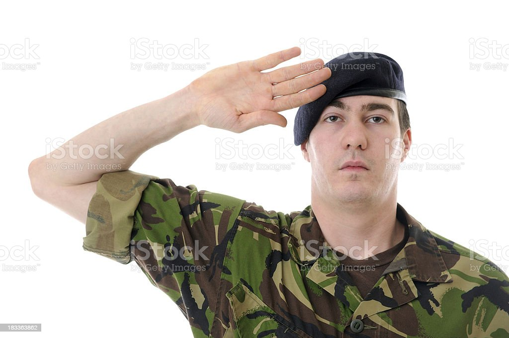Soldier Salute stock photo