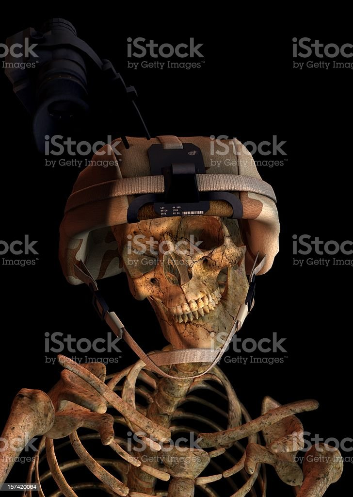 Soldier Skeleton royalty-free stock photo