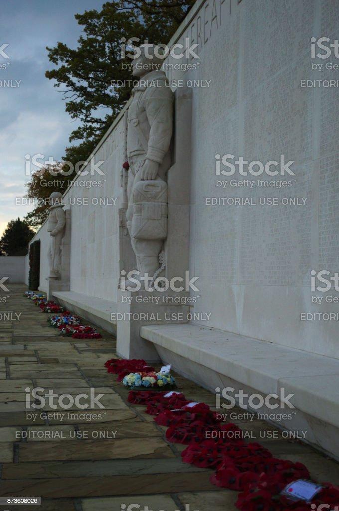 soldier Statue American cemetry Cambridge uk stock photo